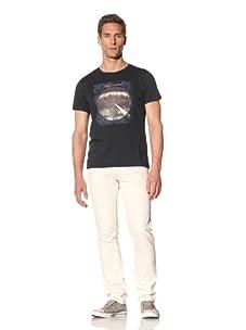 Tee Library Men's 8% Peace Crew Neck T-Shirt (Navy)