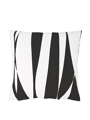 Twinkle Living Ribbon Pillow Cover (Black/White)