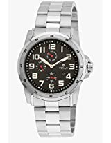 9454Sm02J Silver/Black Analog Watch Titan