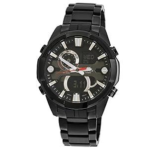 Casio Edifice Chronograph Black Dial Men's Watch - ERA-201BK-1AVDF (EX202)