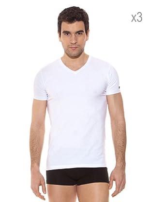 Pierre Cardin Pack x 3 Camisetas M / Corta (Blanco)