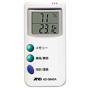【クリックで詳細表示】A&D 時計付デジタル温湿度計 AD-5640A: ホーム&キッチン