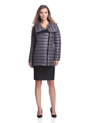 Calvin Klein Women's Packable Down Coat (Titanium)