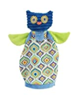 Maison Chic Owl Puppet/Rattle/Blankie 3in1