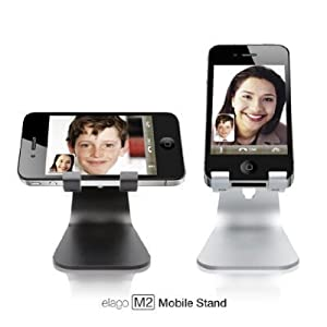 Elago M2 Stand/Dock For iPhone 5/5S/5C/4S Angled Support for FaceTime EL-M2-Stand - Silver