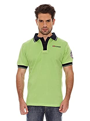 Geographical Norway Polo Manga Corta Kebo Ss Men 100 (Verde/Marino)