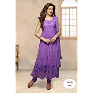 Latest Purple Anarkali Suit