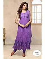 Latest Purple Anarkali Suit