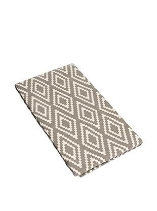 Glam Home Teppich Nirmal taupe/weiß