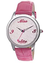 Elite Analog White Dial Women's Watch - E52982/006