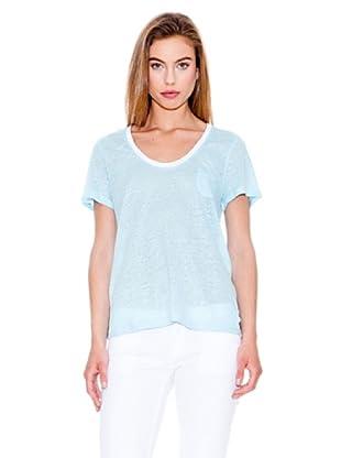 Mango Camiseta Alexis (Azul Claro)
