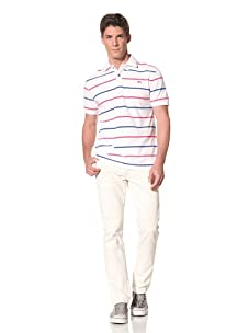Moods of Norway Men's Per Are Polo with Contrast Buttons (White)