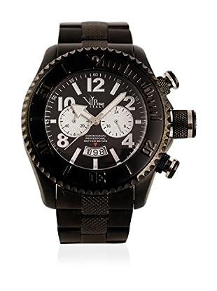 Vip Time Italy Uhr mit Japanischem Quarzuhrwerk VP8018BK_BK schwarz 43.00  mm