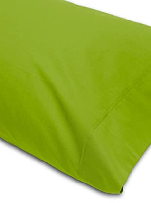 Abecé Funda de almohada Lisa (Verde Manzana)