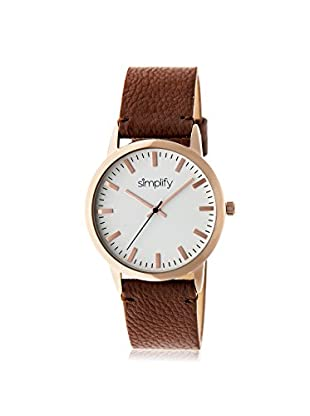 Simplify Women's SIM2803 The 2800 Brown/White Leather Watch
