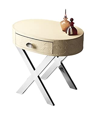 Butler Specialty Company Cream and Stainless Steel Side Table