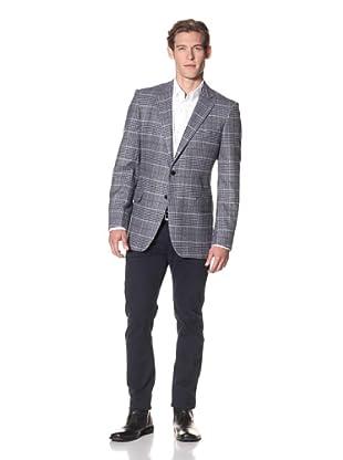 Joseph Abboud Men's Hudson Fit 2-Button Sportcoat (Grey/Purple)