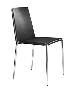 Zuo Modern Set of 4 Alex Dining Chairs (Black)