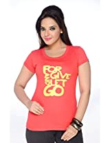 No Problem Womens Tee-shirt-Red(Size Large)