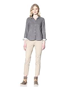 Steven Alan Women's Reverse Seam Shirt (Grey/White Floral Print)
