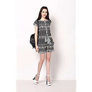 KOOVS OO-262 Tunic Dress - Black & white