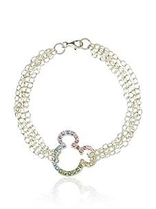 Disney Mickey Crystal Bracelet, Silver