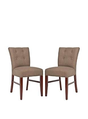 Safavieh Set of 2 Trevor Side Chairs, Olive