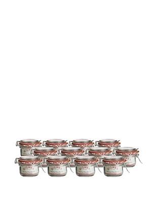 Kilner Set of 12 Clip Top 125ml/4 fl oz. Round Jars