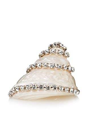 Isabella Adams Swarovski Crystal-Encrusted Natural Astrea Undoza Sea Shell, Silver