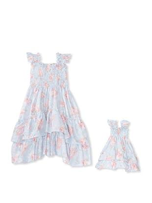 Me & Dolly by 4EverPrincess Girl's Angel Dress (Blue)