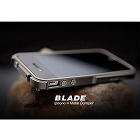 """【iPhone4S/4対応】iPhone4専用バンパー""""BLADE"""" Duralumin case Metal Bumper (TitaniumSilver × TitaniumSilver)"""