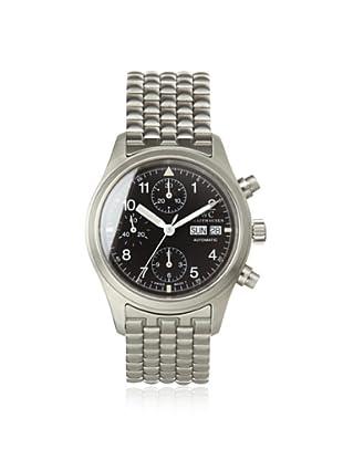 IWC Schaffhausen Men's Flieger Chronograph Silver/Black Watch