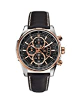 Gc Reade X81007G2S Black Round Dial Chronograph Watch - For Men