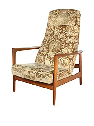 Scandinavian Teak Recliner, Brown