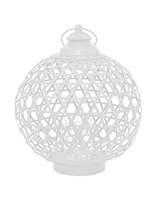 Three Hands Round Bamboo Lantern, White