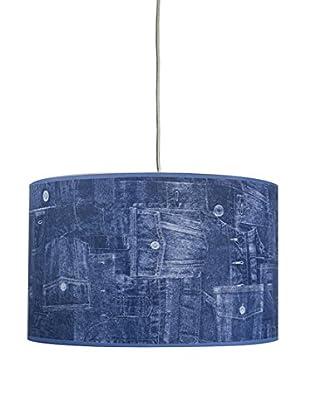Creative-Cables Sospensione Con Paralume blue jeans
