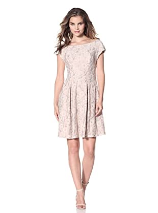 Eva Franco Women's Keller Cap Sleeve Fit-and-Flare Dress (Greystone Lace)