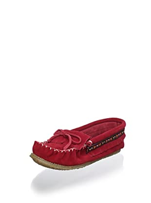 Zerostress Kid's Moccasin (Red)