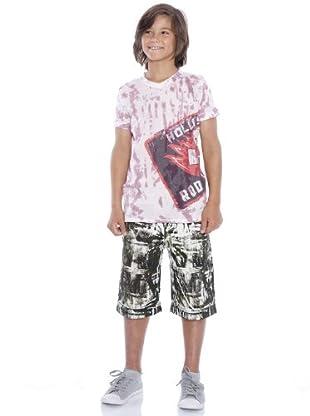 Custo Camiseta Lulipo (blanco / rojo)