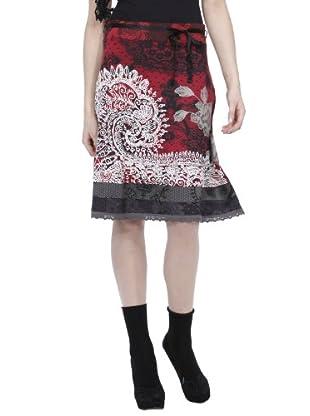Desigual Falda, 28F2743 (Rojo)
