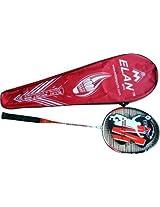 Elan 8036 G4 Strung Badminton Racquet - Black/Red