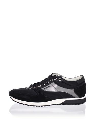 Antony Morato Men's Satin Sneaker (Black)