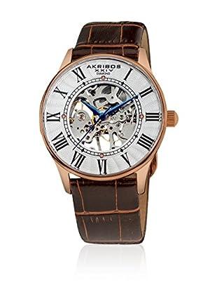 Akribos XXIV Reloj con movimiento mecánico suizo Man AK499RG Marrón