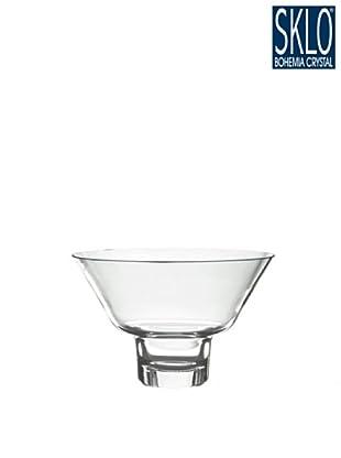 Cristal de Bohemia Portavelas Columna Votive Conico Violaceo