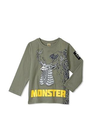 Monster Republic Boy's Deer Wilderness Tee (Olive)