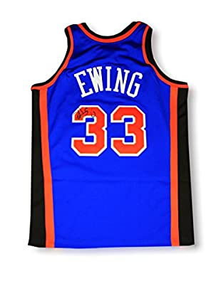 Steiner Sports Memorabilia Patrick Ewing Signed Authentic 96/97 Mitchell & Ness Blue Jersey