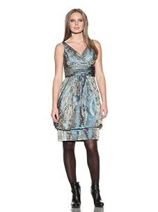 Lafayette 148 New York Women's Animal Print Bubble Hem Dress (Multicolored)
