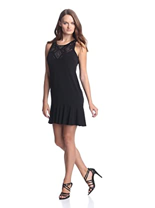 Donna Morgan Women's Tank Dress with Beading (Black)