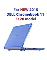 "Blue iPearl mCover Hard Shell Case for 11.6"" Dell Chromebook 11 3120 series Laptop released after Feb. 2015 with 180-degree LCD hinge (NOT compatible with 2014 original Dell Chromebook 11 210-ACDU series) (Blue)"