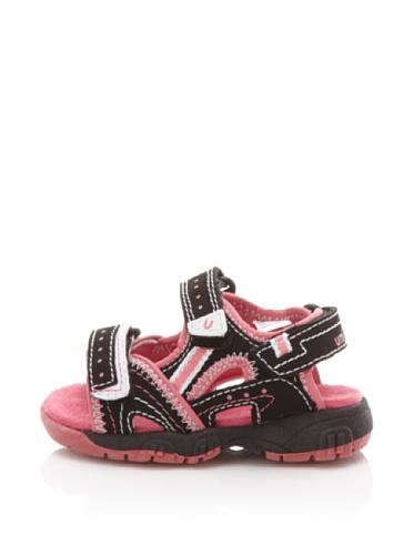 umi Nyoni Active Sandal (Toddler/Little Kid/Big Kid) (Black/pink)